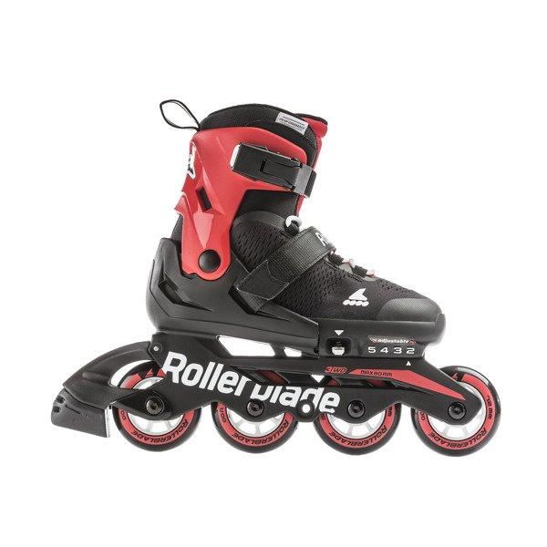 Regulowane Rolki Juniorskie Rollerblade Microblade Black Red 2019