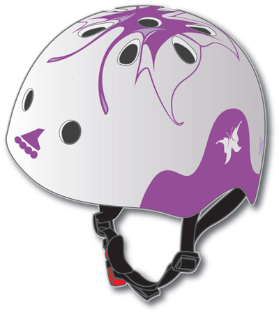 JUNIORSKI KASK NA ROLKI ROLLERBLADE TWIST JR HELMET White/Purple 2019