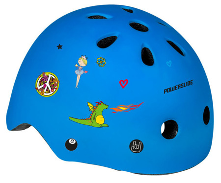 KASK NA ROLKI POWERSLIDE ALLROUND KIDS Cyan