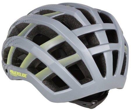 KASK NA ROLKI POWERSLIDE ELITE MEN Grey/Yellow