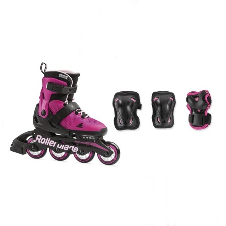REGULOWANE ROLKI JUNIORSKIE ROLLERBLADE MICROBLADE G COMBO Pink / Bubble Gum 2019