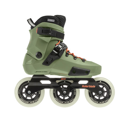 ROLKI ROLLERBLADE TWISTER EDGE 3WD Olive Green / Orange Edition #2 2019
